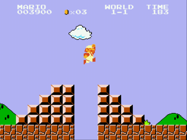 Super Mario Bros - Genesis - leap of faith - User Screenshot